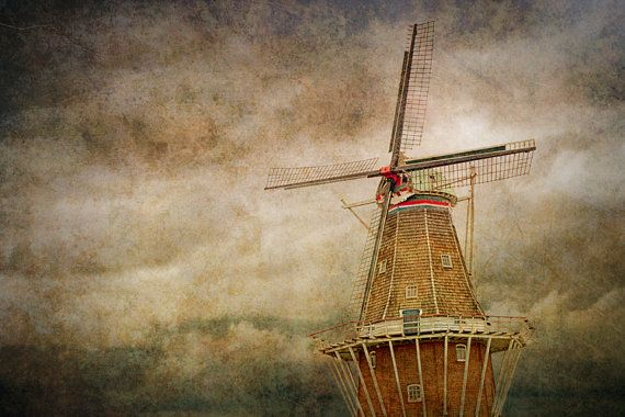 Photograph of the DeZwaan Windmill in Holland by RandyNyhofPhotos, $12.00