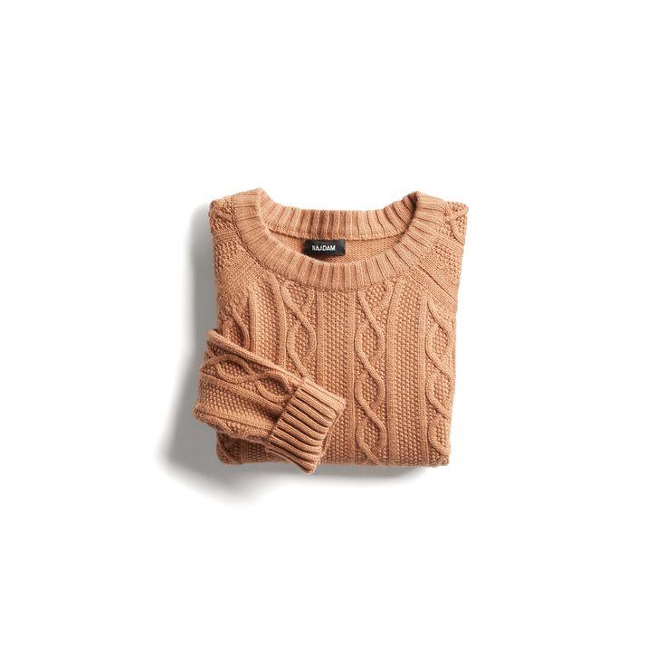 Stitch Fix Fall Stylist Picks: Camel cable knit crewneck