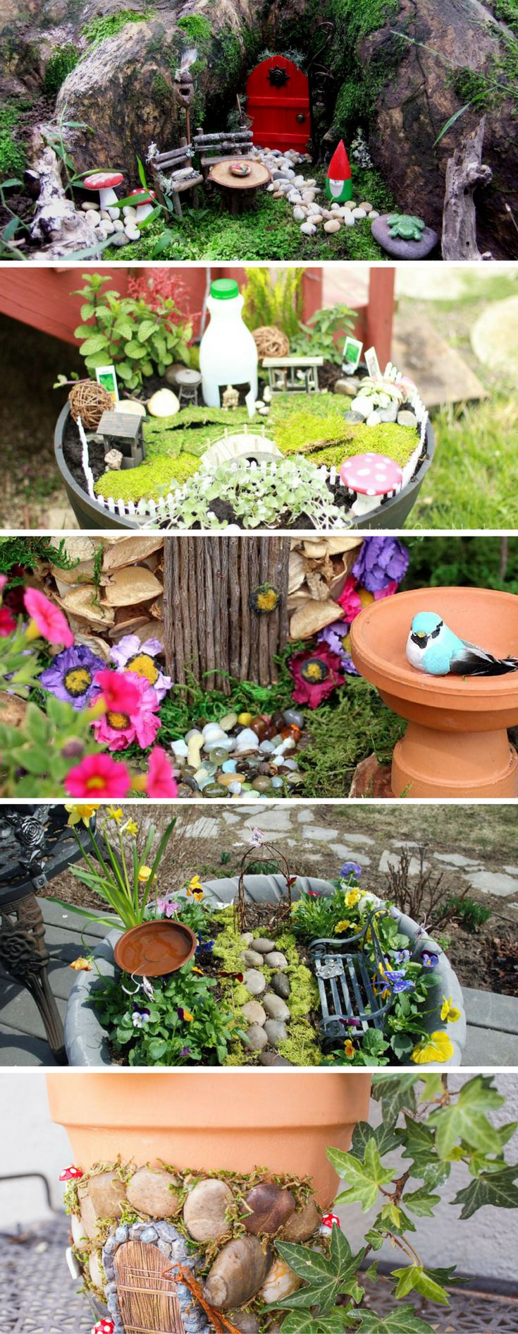 Cute DIY Fairy Gardens Open Doors To Magical Places