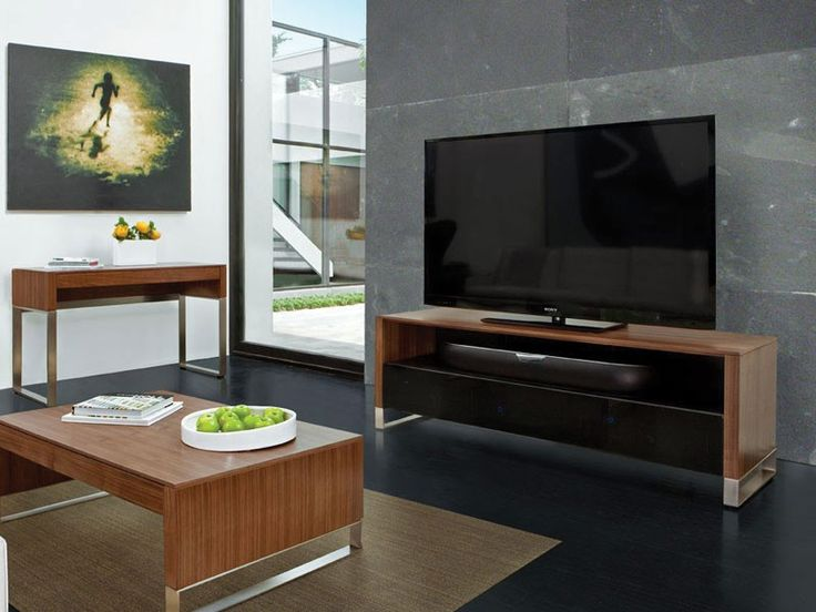 BDI Cascadia 8257 Natural Walnut Home Theatre TV Cabinet. Designed For Up  To 73 Part 80