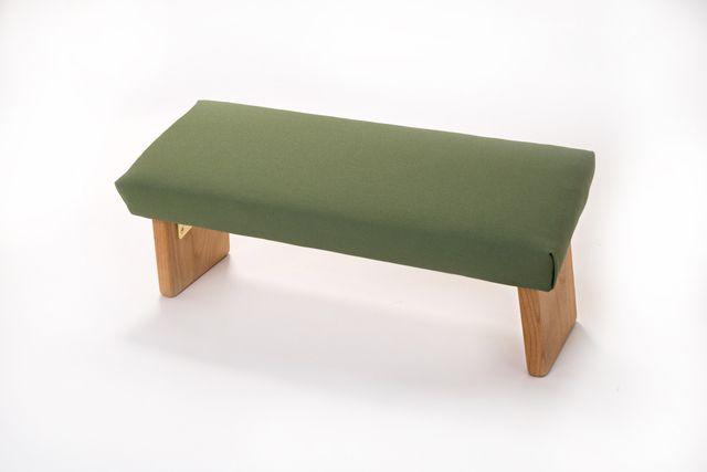 Solid Alder hardwood meditation bench