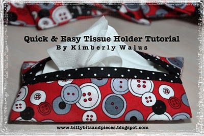 bitty bits & pieces: Quick & Easy Tissue Holder Tutorial