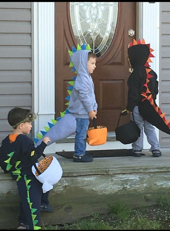 Toddler Dinosaur Sweatshirt Tail Halloween Costume Birthday