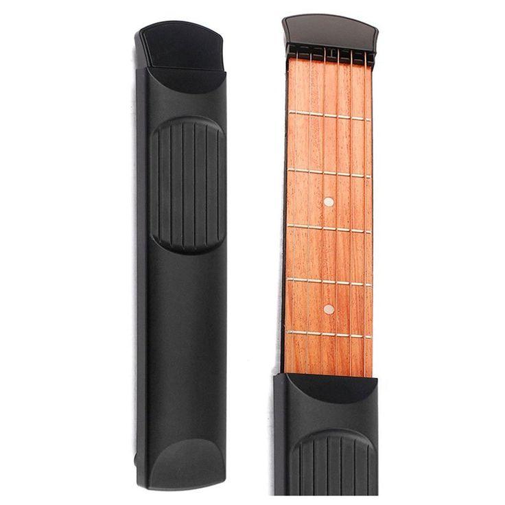 Portable Wooden Pocket Practice Guitar 6 Fret Model – Great Guitar Gifts