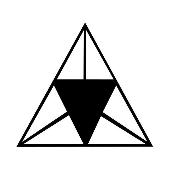 Triangle In engineering, the triangle is considered the strongest and most indestructible form for structures of every description.   It was perceived as representing the cycle of life -birth, maturity and death- and as such it stood for the harmony of humans with their gods. It was considered a sacrilege to break its perfect shape.