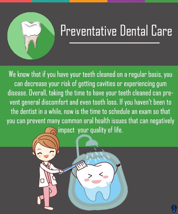 If you have your teeth cleaned on a regular basis you can decrease your risk of getting cavities or from experiencing gum disease. #PreventativeDentalCare #PreventativeDentist #Dentist #Cavities #Dentistry