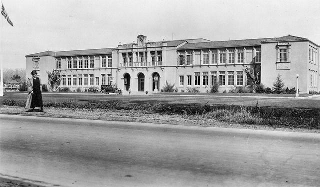 Tustin High School, circa 1925 by Orange County Archives, via Flickr