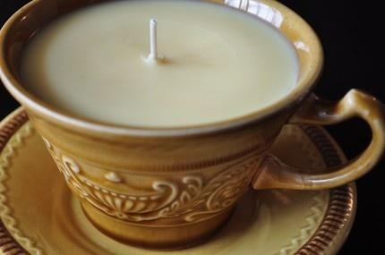 tea cup candlesTeas Cups, Cups Candles, Tea Cups, Teas House