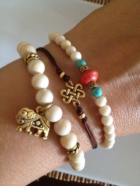 Eternal Knot Bracelet Gold or Silver on Etsy, $14.00