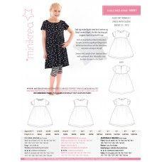Minikrea 50011 -Tuniekjurk 0-10j Sewing patterns for kids.