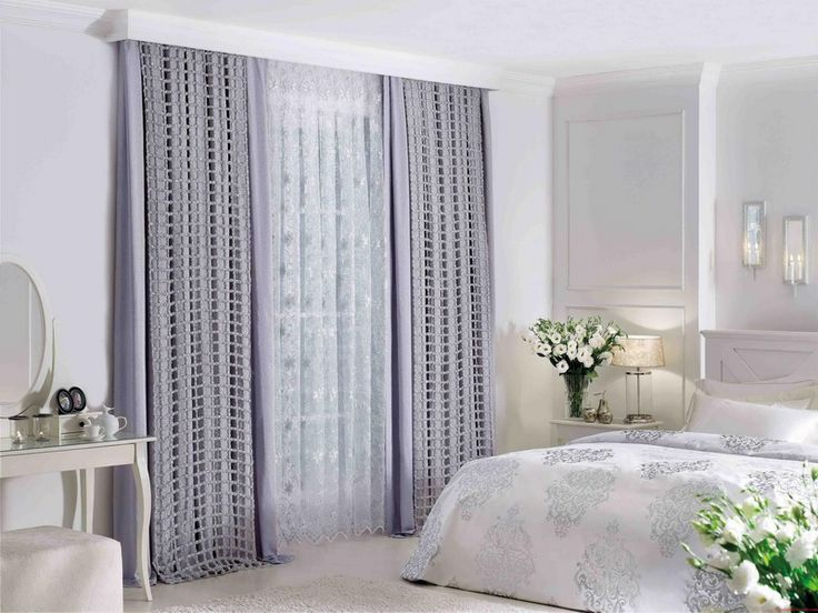 Best-Bedroom-Design-Bright-Purple-Bedroom-Curtain-Ideas-for-Large-Windows-Finished-in-Grey-Color-in-White-Interior.jpg 800×600 pixels