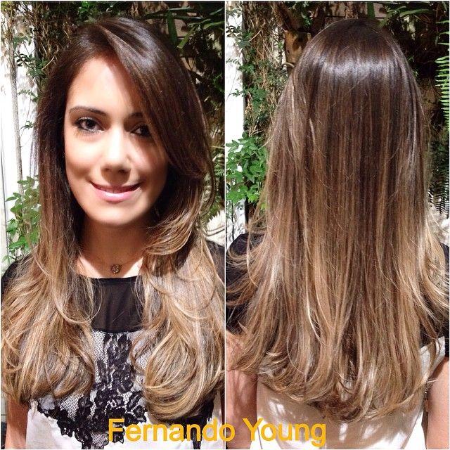 #ShareIG Lindíssimo ombrê hair para morenas iluminadas by top hairstylist…