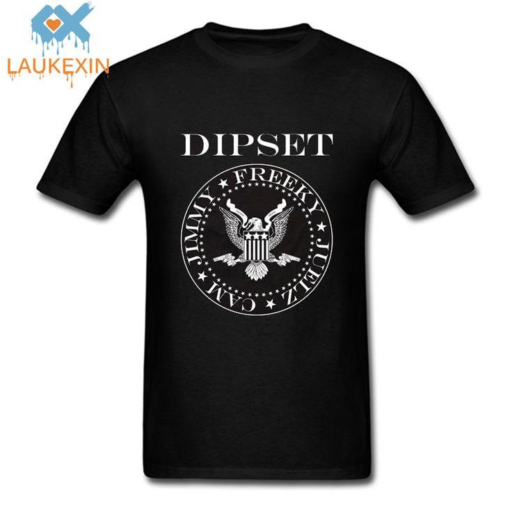 Harajuku D'é Dipset Diplomates T-Shirt Santana Jim Jones Freekey  Harlem Hip Hop Style Hommes Femmes Top Coton Casual t Shirt tee