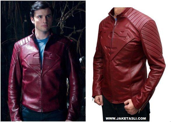 Jaket Kulit Smallvilee Superman Warna Merah Marun Murah Lihat Katalog di > http://jaketkulitz.blgspot.com