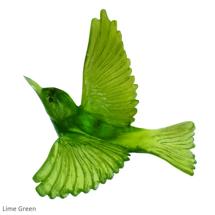 Lime Green Waxeye by Lukeke Designs. One of five bird shapes and 45 colours!