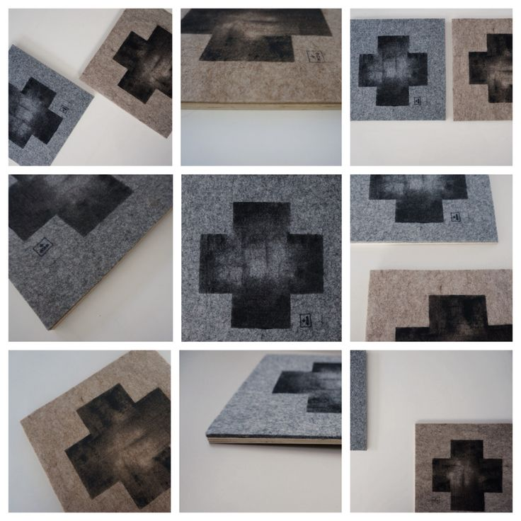 NEW! ➕one industrial collection: felt on ply artworks: individually hand-painted on premium 5mm felt in sandstone + granite colourways: eco friendly water based fabric paint: designed + hand-painted + handmade by Claire Webber, Hobart,nTasmania  For more info email: webberclaire1@gmail.com