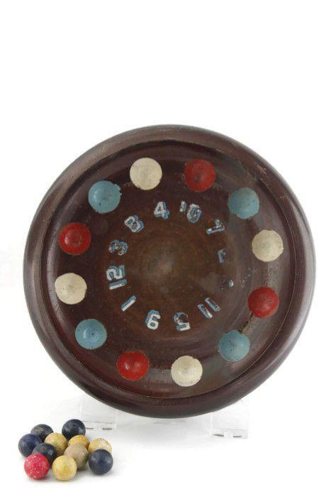 Vintage German Gambling Game Spin Roulette Footed Wood Missing Spinner    eBay