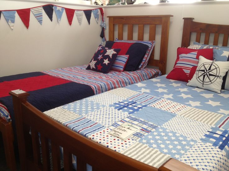 Boys beds - Stripy Sam & Wills Star in the window at Websters.  Looking good Websters!