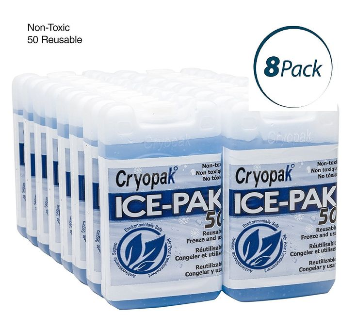 Cryopak Hard Shell Reusable Ice Pack, 3x5' (Pack of 8) * Click image for more details.