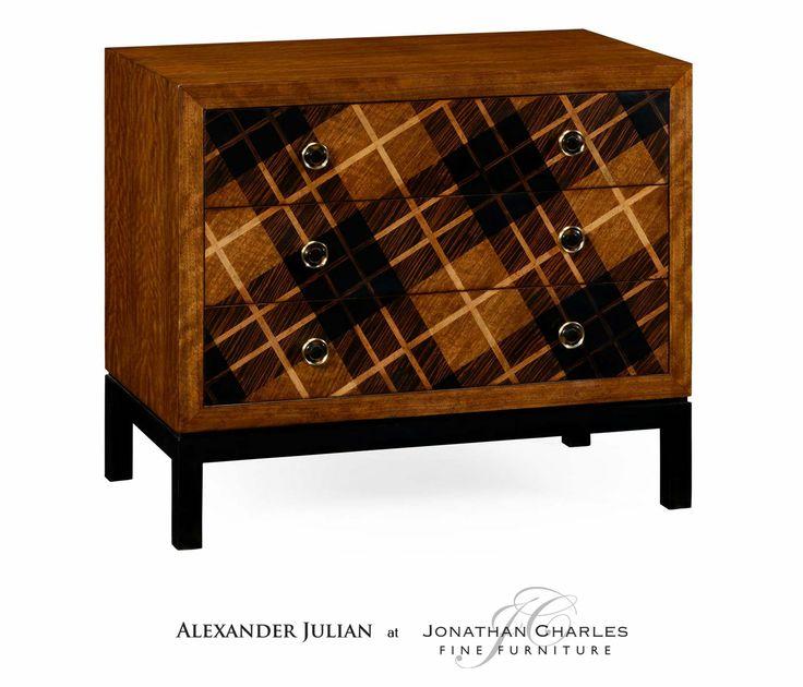 Jonathan Charles Hand Inlaid Tartan Low Chest By Alexander Julian 4950