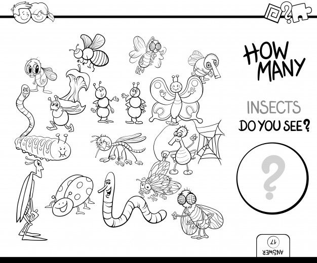 drawing games for little girls Counting Insects Game Coloring Book Premium Vector Freepik