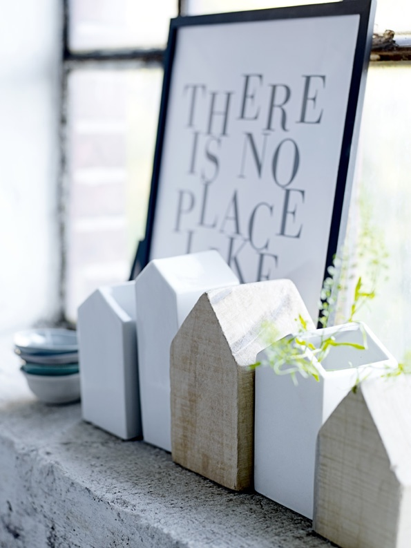 There is no place like.... I'm inspired to cover the final word with pretty bird houses all in a row