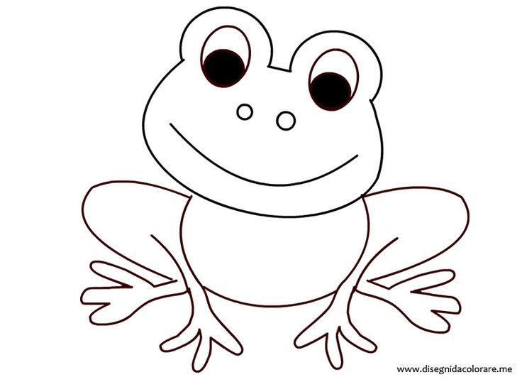 Frosch Ausmalbild 01 Today Pin