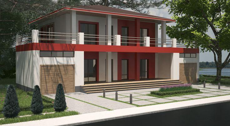 РичсиоттиДвухэтажный жилой дом 9,0м*12,0м.Жилой дом разработан в двух вариантах:  с плоской кровлей и  с четырехскатной кровлей.Первый этаж состоит:  кухня-студия,   спальня,  санузел,  ванная  комната, гардеробная комната.На втором этаже запроектированы:  три спальни,  кабинет,  санузел,  две ванные  комнаты.Жилые комнаты запроектированы:  на юг,  восток,  запад;  вспомогательные помещения на север.Площади:Общая площадь — 161,87 м².Жилая площадь — 64,27 м².Этажность — 2 этажа.
