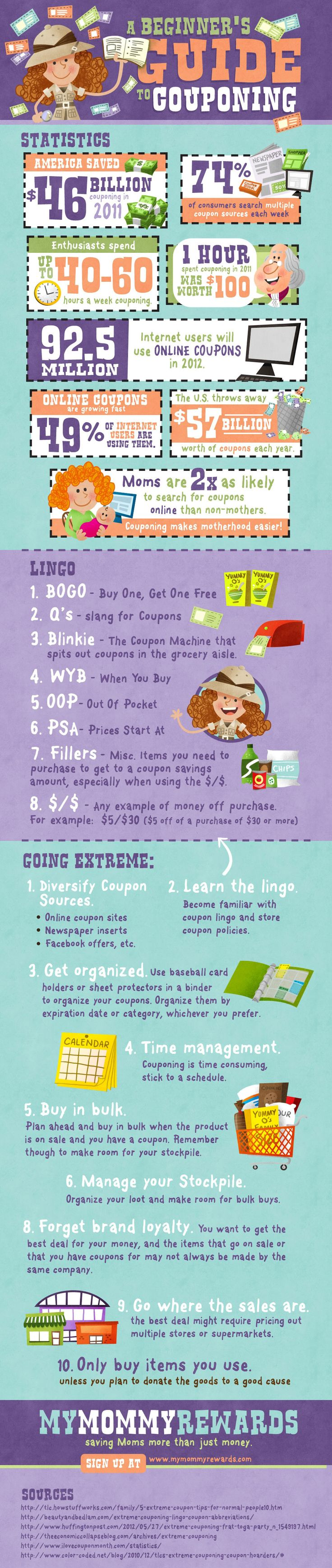 Free Guide to Couponing *Very good infographic for beginners!*