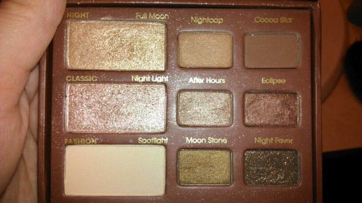 Too Faced natural at night, most have been used two or three times, the others have only be swatched, $25 shipped