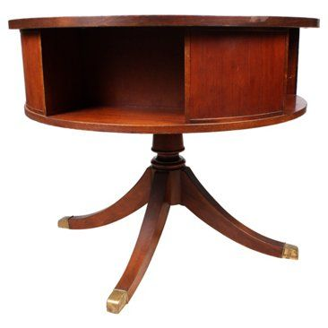 Check out this item at One Kings Lane! 1950s English Duncan Phyfe Drum Table