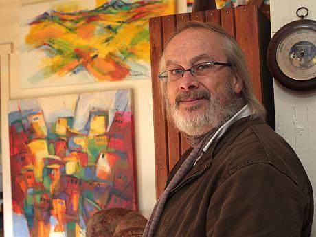 Rubén Schneider, pintor chileno. Puerto Montt.