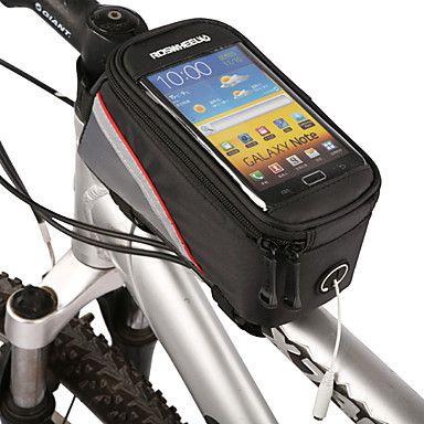 Bolsa para Cuadro de Bici / Bolso del teléfono celular (Iphone 6 Plus/6S Plus, Iphone 6/IPhone 6S, LG G3, Samsung Galaxy) -Cremallera a prueba de agua – MXN $ 186.81