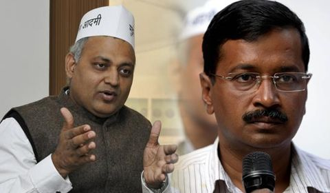 Somnath Bharti becoming embarrassment for party: Arvind Kejriwal