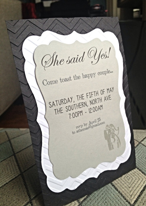 14 best images about Engagement Party Ideas – Handmade Engagement Party Invitations