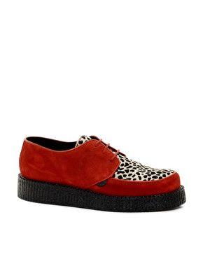 Underground Wulfrun Suede Leopard Creeper Shoes