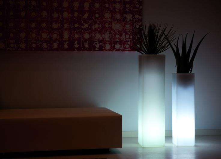 Plantenbak Marbella Wit Verlicht - Het Luxe Leven - Pimp up your Lifestyle!