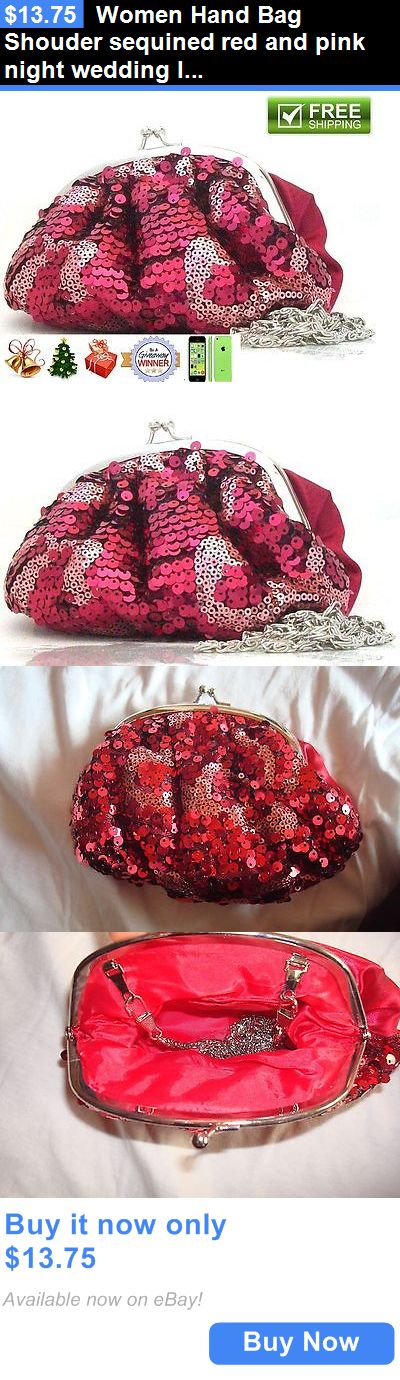 Bridal Handbags And Bags: Women Hand Bag Shouder Sequined Red And Pink Night Wedding Ladies Bag BUY IT NOW ONLY: $13.75