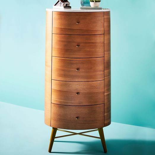 Penelope Narrow 5-Drawer Dresser | west elm