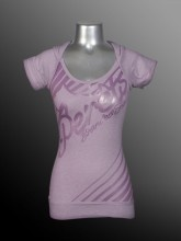 Ladies - Fashion Hoodie - Jersey Burnout - Purple - LS13-JRBO611-749