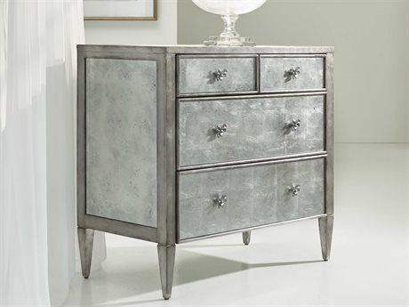 Hooker Furniture Melange Silver 38u0027u0027W X 20u0027u0027D Urbane Mirrored Accent