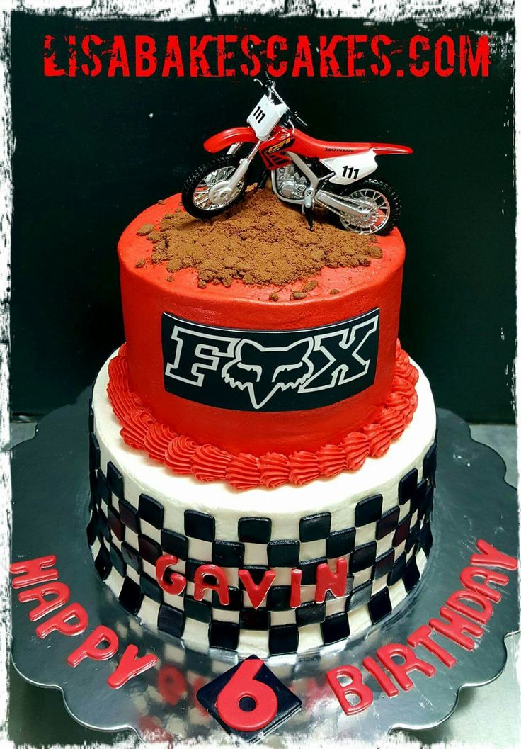 Motocross cake by Lisabakescakes.com                              …
