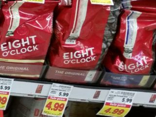 Nicer Value: $1.50 off any One Bag of Eight O' Clock Coffee (10 oz or larger) (10 oz for $3.49 at Kroger)