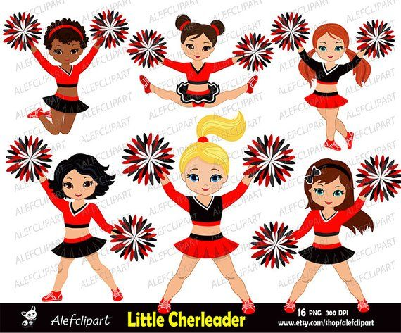 Cheerleaders Set Red,Black and White for -Personal and ...