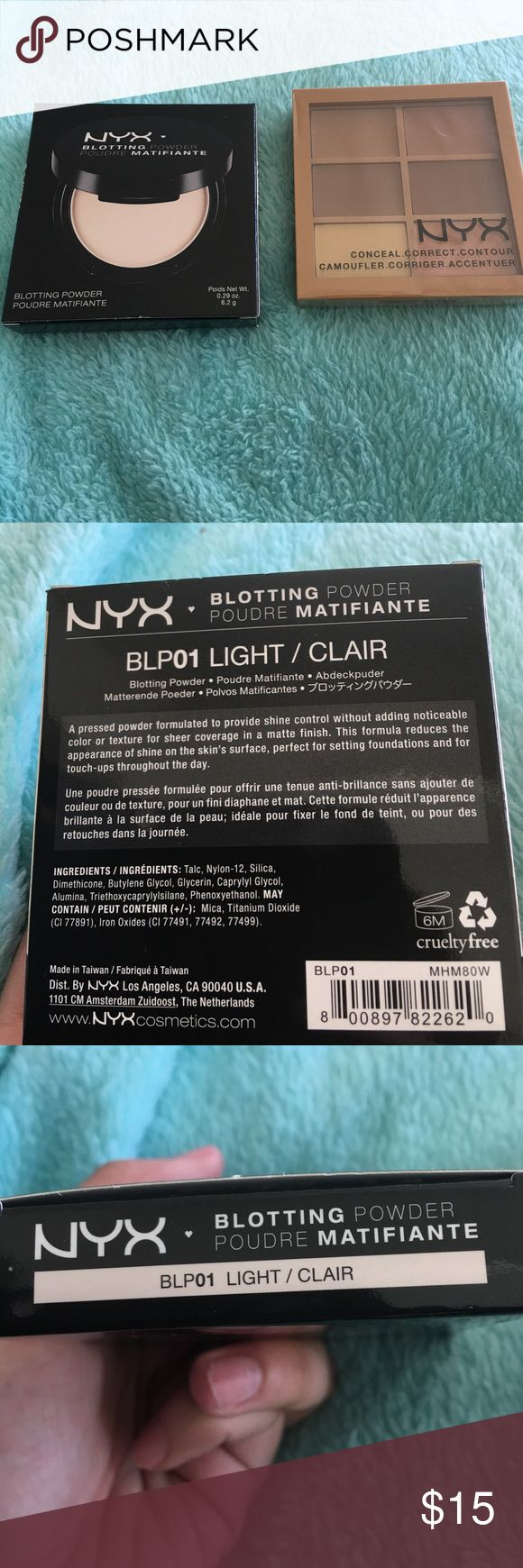 Makeup duo NYX blotting powder in light & NYX conceal. Correct. Contour. ALL NEW IN BOX AND SEALED Sephora Makeup Concealer