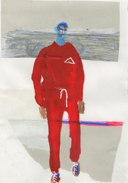 Gosha Rubchinskiy Spring/Summer 2015, Illustration by John Booth