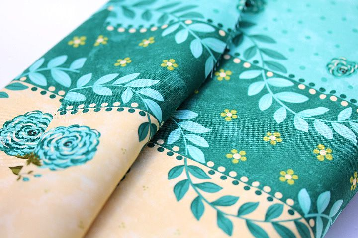 Prints Charming Collection-Teal Border