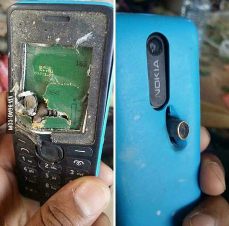 A soldier survived because the bullet hit his phone. Nokia, of course!