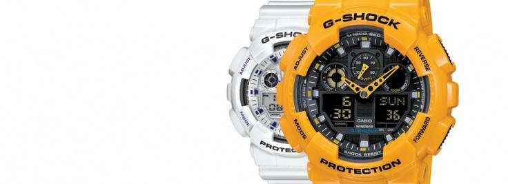 Si estás cansado de que tu reloj no tenga color ni te lo pienses un segundo más, píllate el GA-100A en blanco (GA-100A-7AER) o en amarillo (GA-100A-9AER) y verás que a partir de ahí necesitarás más y más color cada día!