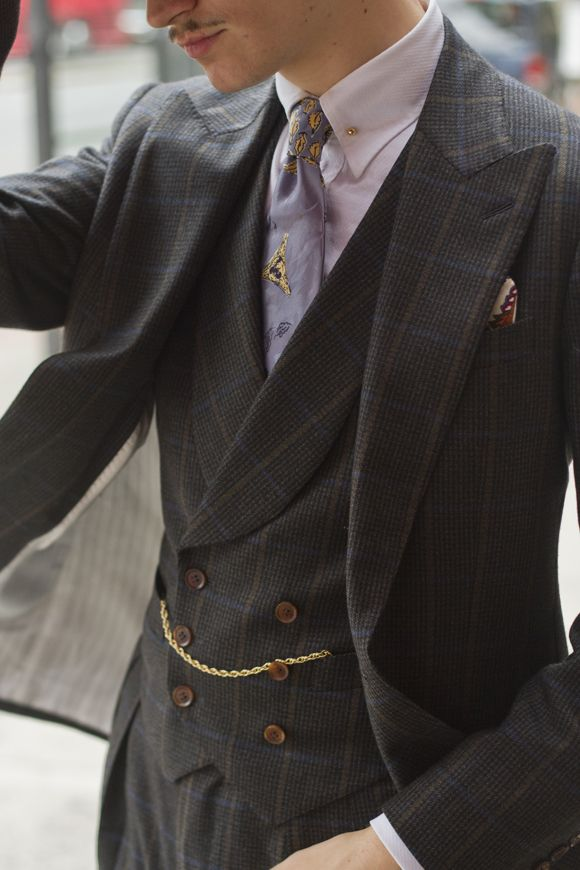 Collar Bar Pocket Square Pocket Watch Double Breasted